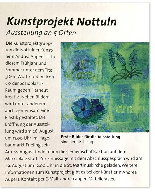 Bericht über das Kunstprojekt Aupers